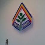 Вивіски. Вивіска/стенд для Житомирського національного агроекологічного університету. Три рівня пенополістиролу + фарбування + накладки з оргскла доповнюють картину.
